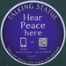 Hear Peace here [plaque]