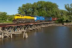 Leavin' Time (sully7302) Tags: nysw new york jersey susquehanna western sd60 gmtx 9000 hackensack river bridge emd su99 train 3804 trains railway railroad transport transportation urban city