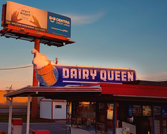 Start Right Here (Pete Zarria) Tags: indiana dairy queen neon sign ice cream cone sundae blue red