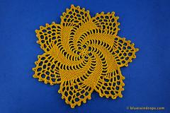 Pretty Pinwheel Doily (elsa.blueraindrops) Tags: crochet doily yellow star pinwheel modern pattern