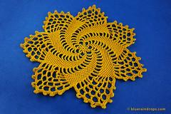 Pretty Pinwheel Doily (elsa.blueraindrops) Tags: crochet doily star pinwheel yellow summer modern pattern