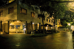 Urban night on reversal film (Thanathip Moolvong) Tags: nikon fe fujichrome velvia 100 film night reversal