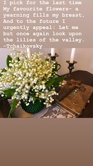 LILIES OF THE VALLEY (Cabinet of Old Secret Loves) Tags: tchaikovsky poem poetry lilies of the valley spring wood nature romantic liliesofthevalley russian composer literature beautiful music composition woods forest fields life love favorite flowers white perfume fragrance fragrant time