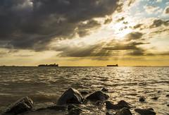 Waarde (Omroep Zeeland) Tags: westerschelde waarde kust wolken wolkenlucht scheepvaart zonsondergang sunset zeeuwse zeeland nederland