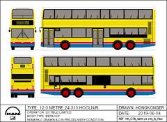 Citybus MAN 24.310 12m with Berkhof Bodywork (Hongkonger's Collection) Tags: busdrawing man 24310 a59 berkhof hongkong belgium citybus ctb