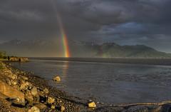 Blast Off! (tpeters2600) Tags: alaskaanchorage canon eos7d hdr photomatixtamronaf18270mmf3563diiivcldasphericalif rainbow goldenhour