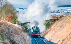 Washford 163a.jpg (alanturner317) Tags: passenger prarie year2010 gwr railways up tank 5553 snow westsomerset