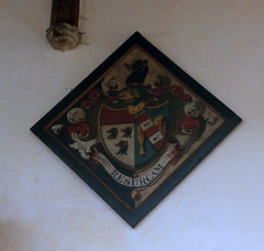 St Peter and St Paul's Church, Clare, Suffolk (beery) Tags: stpeter stpaul church clare suffolk england arms heraldry hatchment johnbarker barker