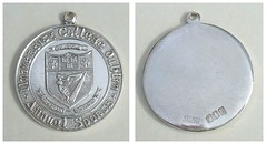 UNIVERSITY COLLEGE DUBLIN ANNUAL SPORTS - silver prize medal (hallmarked Dublin 1969) (RETRO STU) Tags: ucdbelfield ireland dublin medal universitycollegedublin silvermedals sportmedals