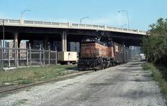 Milwaukee Road at Halsted 5-7-86 (jsmatlak) Tags: chicago milwaukee road ce freight train railroad locomotive