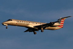 N659AE American Eagle ERJ-145LR at KCLE (GeorgeM757) Tags: n659ae americaneagle piedmontairlines embraer erj145lr landing aircraft aviation airport kcle georgem757 sunset regionaljet canon70d