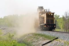 Cleaning House (Ryan Distad) Tags: loram train railroad summer sun mow clean cp canadian pacific railway