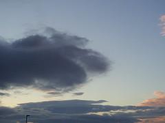 Cloud paw (Nekoglyph) Tags: clouds sky grey sunset evening blue found face anthropomorphism paw cat doom quiff hair pink