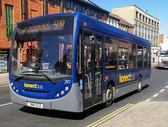 Konectbus 297 is on Castle Meadow while on route 50a to Cringleford via Newmarket Road. - SN10 CCZ - 1st April 2019 (Aaron Rhys Knight) Tags: konectbus 297 sn10ccz 2019 castlemeadow norwich norfolk goeast alexanderdennis enviro200