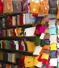 Handbags any colour any size! (dramadiva1) Tags: corfu handbags colours leather fashion