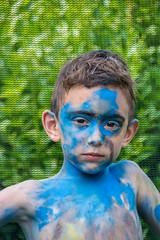 Rock Star. (Azariel01) Tags: 2019 belgique belgium brussels bruxelles blooming makeup maquillage peinture paint painted star rockstar garçon boy disguise déguisement performance performing