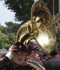 Brass band in Corfu (dramadiva1) Tags: corfu brassband uniform reflections music easter