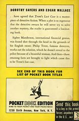 Pocket Books 269 - E.C. Bentley - Trent's Last Case (back) (swallace99) Tags: pocketbooks vintage 40s murder mystery paperback