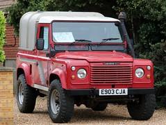 E903 CJA (Nivek.Old.Gold) Tags: 1988 land rover 90 turbo pickup aluminium canopy 2494cc diesel