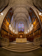 Worldly altar (Bryan Esler Photo) Tags: northcarolina nc durham dukeuniversitychapel dukeuniversity duke altar church religion religious fisheye