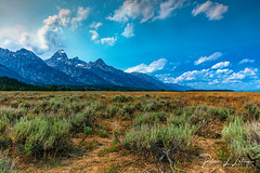 Grand Teton Scenery (rebeccalatsonphotography) Tags: sagebrush mountains clouds wyoming nationalpark grandteton canon summer july rebeccalatsonphotography