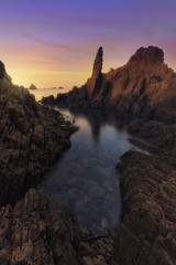 The needle (Rafael Díez) Tags: españa andalucia almeria cabodegata lassirenas amanecer sunrise nubes paisaje mar agua rocas filtro rafaeldíez sea seascape verano