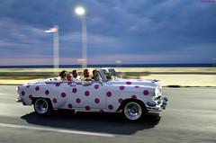 Cuba Car (La Habana) (Carlos Arriero) Tags: lahabana cuba havana cocheantiguo coche car urbanphoto urban streetphoto street calle centroamérica carlosarriero night nikon d800e 35mmf18 tamron people personas gente road city ciudad color colour colors oldcar classiccar