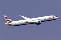 British Airways 787-9 G-ZBKF at London Heathrow LHR/EGLL (dan89876) Tags: british airways boeing 787 dreamliner b789 7879 gzbkf london heathrow international airport takeoff 09r banking lhr egll