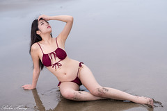 DSC_8422 (Robin Huang 35) Tags: 淡水區 新北市 中華民國 艾森 eisen 洲子灣 海邊壓光 海灘 沙灘 海邊 泳裝 比基尼 bikini 人像 portrait lady girl nikon d850