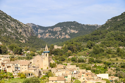 Arial View of the Charterhouse of Valldemossa in Mallorca, Spain