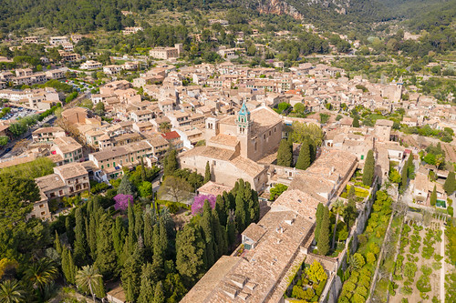 Royal Charterhouse of Jesus of Nazareth in Valldemossa (la Cartuja) in Mallorca, Spain