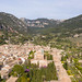 Aerial view of the valley of Valldemossa on the island of Mallorca, Spain
