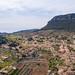 Luftbild des Tals Valldemossa auf Mallorca, Spanien