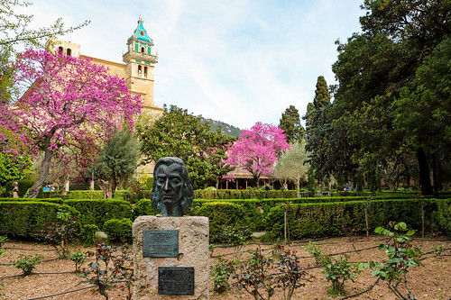 Statue of Frédéric Chopin in Valldemossa, Mallorca, Spain