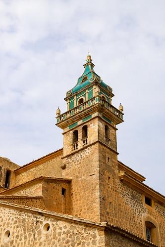 Iglesia de la Cartuja church tower in Valldemossa, Mallorca