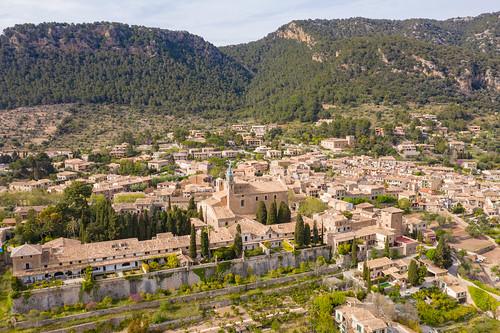 Blick auf das Tal Valldemossa auf Mallorca, Spanien