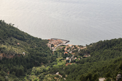 Blick auf Port de Valldemossa auf Mallorca, Spanien