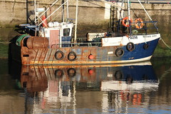 William John (calzer) Tags: canon john saturday william buckie boat fishing rust morning reflection tyres harbour sunny pd298