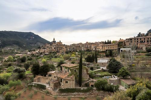 Das Dorf Valldemossa auf der Balearischen Insel Mallorca, Spanien