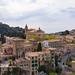 Blick auf die Kirche der Kartause (Iglesia de la Cartuja) in Valldemossa auf Mallorca, Spanien