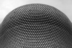 Selfridges Silver (zawtowers) Tags: birmingham west midlands central england saturday 1st june 2019 sunny warm day blue sky sunshine selfridges iconic round circle discs curve dome black white monochrome mono
