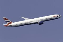 British Airways 777-300ER G-STBH at London Heathrow LHR/EGLL (dan89876) Tags: british airways boeing 777 777300er b77w 777336er gstbh london heathrow international airport takeoff 09r banking lhr egll