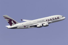 Qatar Airways A380 A7-APG at London Heathrow LHR/EGLL (dan89876) Tags: qatar airways airbus a380 a380800 a388 a380861 a7apg london heathrow international airport takeoff 09r banking lhr egll