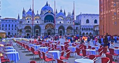 St. Marks Square / Venice, italy (glenn2meyer) Tags: st marks square venice italy island travel destination church piazza water color colorful painted look sony a6000