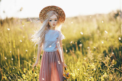 first day of summer I (AzureFantoccini) Tags: bjd abjd balljointeddoll supia supiadoll jiin doll nature countryside summer sun field outdoor sonynex
