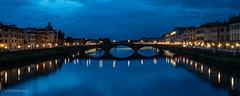 Firenze: Blue hour on the river Arno (christian.rey) Tags: bluehour heurebleue florence firenze arno ponts bridge sony alpha a7r2 a7rii 24105 longuepose longexposure italie italy toscane tuscany toscana saariysqualitypictures