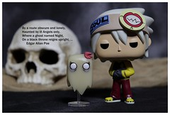 Soul Eater (DayBreak.Images) Tags: tabletop toy funkopop souleater figure skull poetry text canoneosm mirrorless meyeroptic 50mm trioplan ringlight photoscape border home