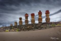 The seven explorers (marko.erman) Tags: chile rapanui easterisland pacificocean iledepaques anakena beach sevenexplorers moai sculptures legend island sony archeology civilisation hotumatua