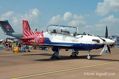 G-ETPA  PC-21  QinetiQ (Keith Wignall) Tags: fairford ffd riat pilatus pc21 qinetiq bdn