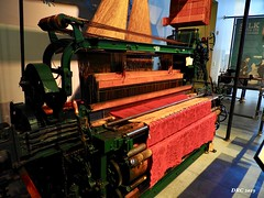 Loom - National Museum of Industrial History (DRC - THANKS for 3.4 Million Views) Tags: industry loom weaving museum colorful bethlehem pa red orange yellow fabric threads olympus omdem5ii vivid machine green nationalmuseumofindustrialhistory